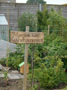 bord www.spruitenieren.nl volkstuin